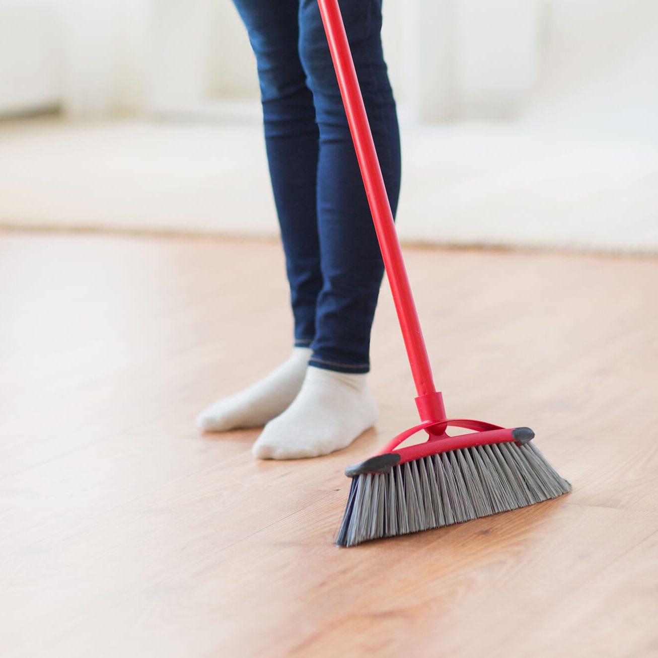 Laminate sweeping   Flooring by Wilson's Carpet Plus