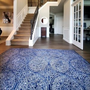 Blue area rug | Flooring by Wilson's Carpet Plus